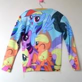 На картинке свитшот и леггинсы «My little pony», вид сзади (свитшот).
