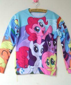 На картинке свитшот и леггинсы «My little pony», вид спереди (свитшот).