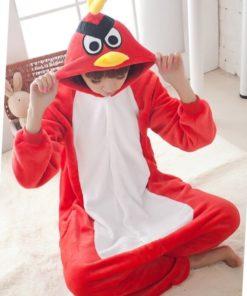 На картинке пижама-кигуруми «Angry birds», общий вид.