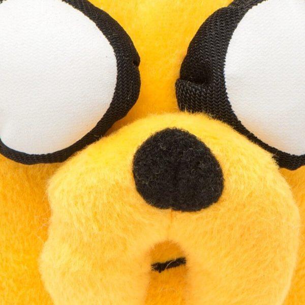На картинке мягкая игрушка Джейк «Время приключений» (Adventure time) 2 варианта, детали, вариант 33 см.