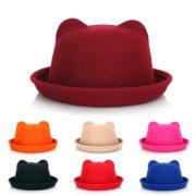2013-весной-высокое-качество-новых-женщин-мода-уникальный-кошачьи-уши-Hat-Cap-модные-боулер-дерби-шерсть