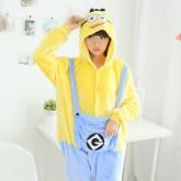 На картинке пижама-кигуруми «Миньон» (Гадкий я), вид спереди.