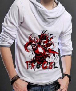 На картинке толстовка Токийский гуль (Tokyo Ghoul), вид спереди, цвет белый.