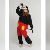 На картинке пижама-кигуруми «Микки маус» (Mickey Mouse) 2 варианта, вид спереди и сзади, вариант Микки.
