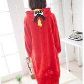 На картинке пижама-кигуруми «Angry birds», вид сзади.