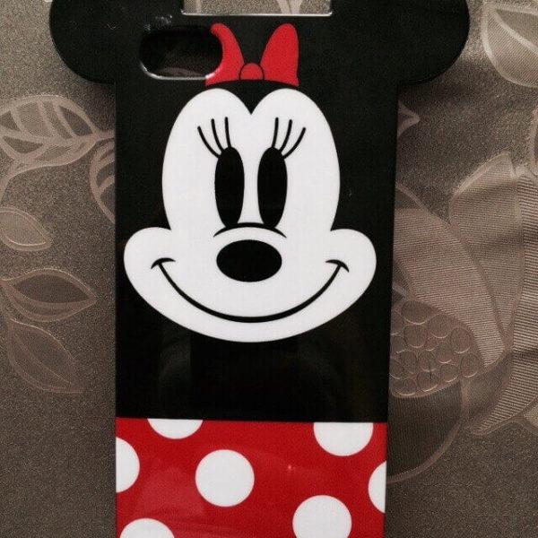 На картинке силиконовый чехол с ушками Микки и Минни на айфон 4-4S-5-5S (iPhone), вид спереди.