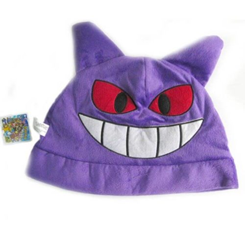 На картинке шапка покемон Генгар (Gengar) — (Покемон), вид спереди.