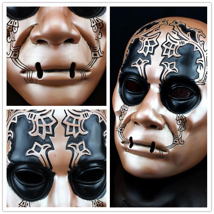 На картинке маска Пожирателя смерти (Гарри Поттер), детали.