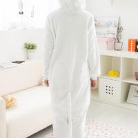 На картинке пижама-кигуруми «Кошка», вид сзади.
