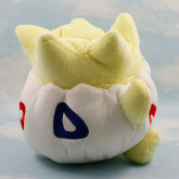 На картинке мягкая игрушка покемон Тогепи (Покемон), вид сзади.