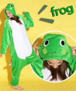 На картинке пижама-кигуруми «Лягушка», общий вид.
