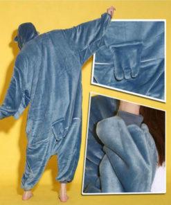 На картинке пижама-кигуруми «Сова», детали.