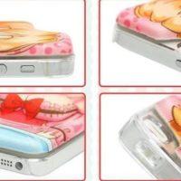 На картинке объемный аниме чехол на айфон 4-4s-5-5s (iPhone), вариант 4.