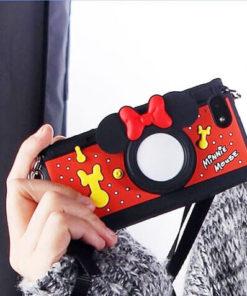 На картинке силиконовый чехол Микки и Минни на айфон 4-4S-5-5S (iPhone), общий вид, вариант Минни.
