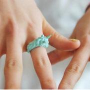 Кольцо «Единорог» (4 цвета) фото