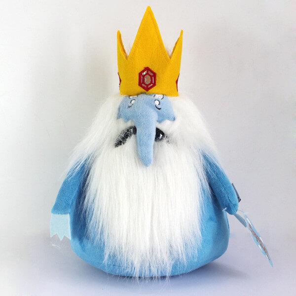 """На картинке мягкая игрушка Снежный король """"Время приключений"""" (Adventure time), вид спереди."""