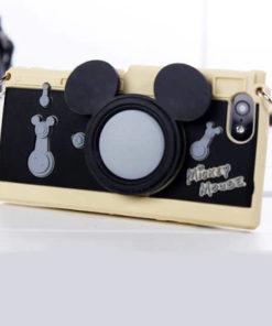 На картинке силиконовый чехол Микки и Минни на айфон 4-4S-5-5S (iPhone), общий вид, вариант Микки.