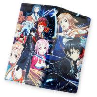 На картинке кошелек Кирито и Асуна «Sword Art Online», в раскрытом виде.