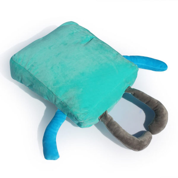 "На картинке мягкая игрушка Бимо ""Время приключений"" (Adventure time) 2 варианта, вид сзади, вариант 40 см."