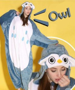 На картинке пижама-кигуруми «Сова», вид спереди.