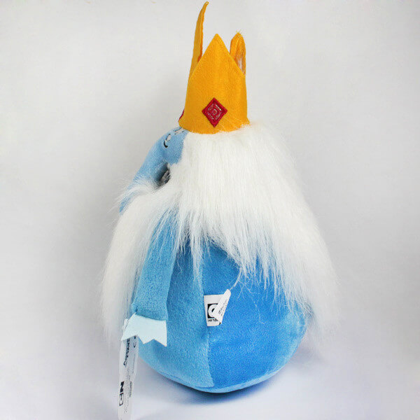 """На картинке мягкая игрушка Снежный король """"Время приключений"""" (Adventure time), вид сбоку."""