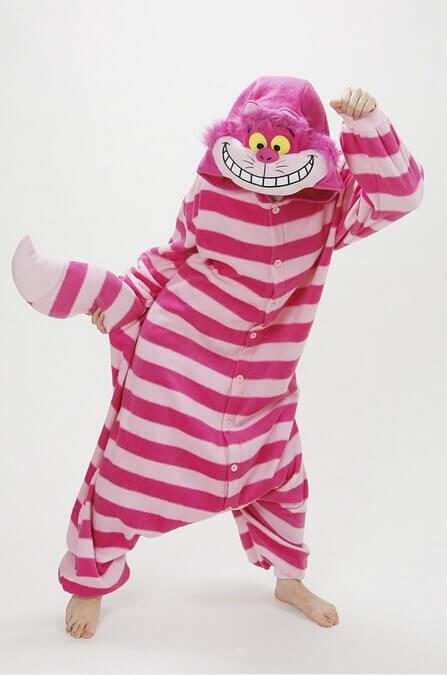 На картинке пижама-кигуруми «Чеширский кот» (Disney) Дисней, общий вид.