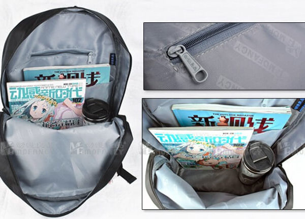 На картинке рюкзак Sword Art Online, в раскрытом виде.