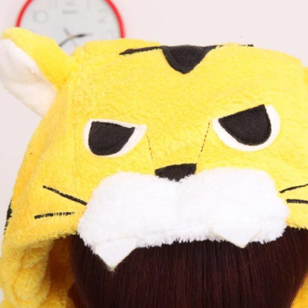 На картинке пижама-кигуруми «Тигр», детали.