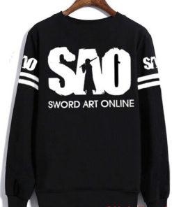 На картинке толстовка-свитшот «Sword Art Online», вид сзади.