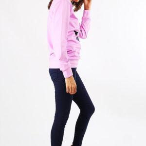 На картинке свитшот Принцесса Пупырка (Время приключений) 2 варианта, вид сбоку, цвет розовый.