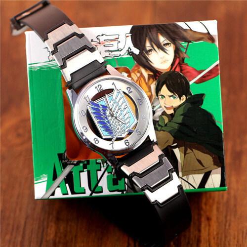 На картинке наручные часы «Атака титанов», общий вид.