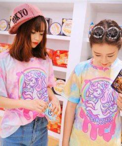 На картинке футболка «Мy little pony» (Дружба это чудо), общий вид, цвета розовый и желтый.