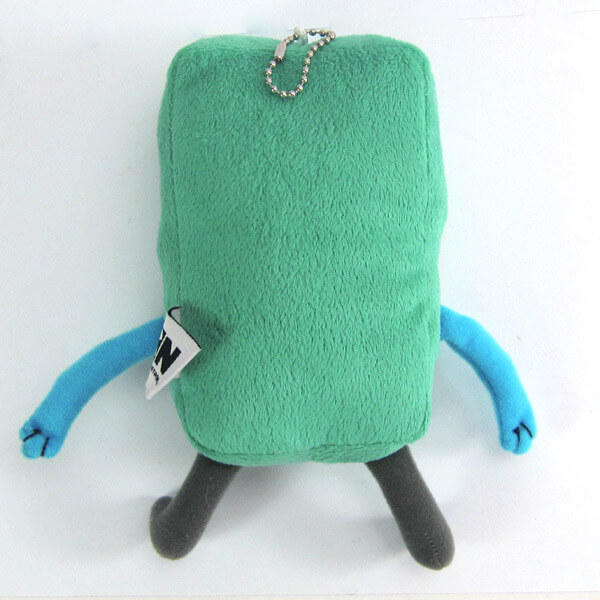 "На картинке мягкая игрушка Бимо ""Время приключений"" (Adventure time) 2 варианта, вид сзади, вариант 12 см."