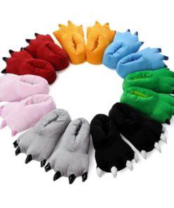 На картинке тапки лапы с когтями (7 цветов), общий вид.