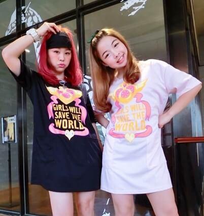 На картинке платье Сейлормун «Девушки спасут мир!» (Sailor moon) 2 цвета, вид спереди.
