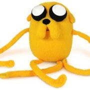 На картинке мягкая игрушка Джейк «Время приключений» (Adventure time) 2 варианта, вид спереди, вариант 33 см.