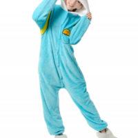 На картинке пижама-кигуруми «Финн» (Время приключений), вид спереди.