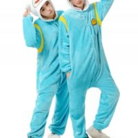 На картинке пижама-кигуруми «Финн» (Время приключений), общий вид.