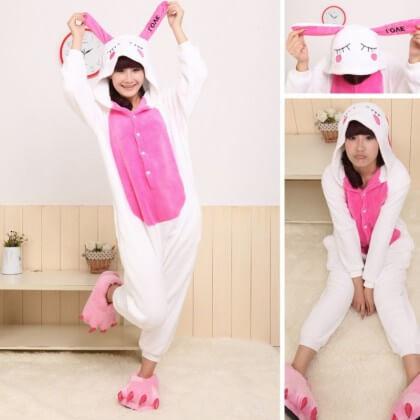 На картинке пижама-кигуруми «Заяц», детали.