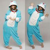 На картинке пижама-кигуруми «кот Дораэмон», вид спереди.