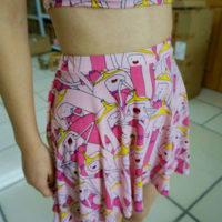 На картинке юбка Время приключений (Adventure time) 5 вариантов, вариант Принцесса Бубыльгум.