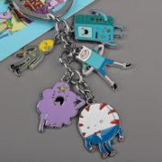 На картинке брелок Время приключений (Adventure time) 4 варианта, вариант 1.