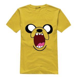 На картинке футболка «Джейк» Время приключений (Adventure time), вид спереди.