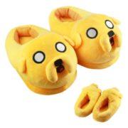 На картинке домашние тапочки игрушка «Время приключений» (Adventure time) 2 варианта, цвет желтый.