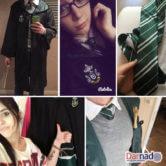 Школьная форма Хогвартса (Слизерин) - Мантия и галстук, реальные фото