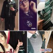 Школьная форма Хогвартса (Слизерин) — Мантия и галстук, реальные фото