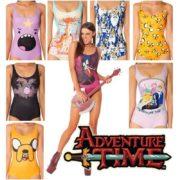 На картинке купальник Время приключений (Adventure time) 7 вариантов, вид спереди.