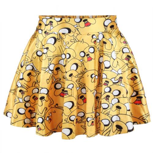 На картинке юбка Время приключений (Adventure time) 5 вариантов, вариант Джейк.