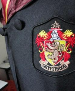 На картинке мантия Гриффиндора из Гарри Поттера, детали.