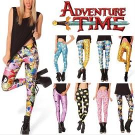 На картинке лосины (леггинсы) Время приключений (Adventure time) 8 вариантов, вид спереди.
